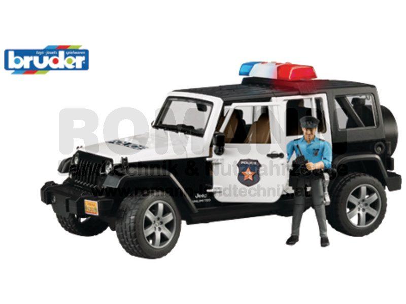 Jeep Wrangler Unlimited Rubicon Polizeifahrzeug, L & S und Polizist