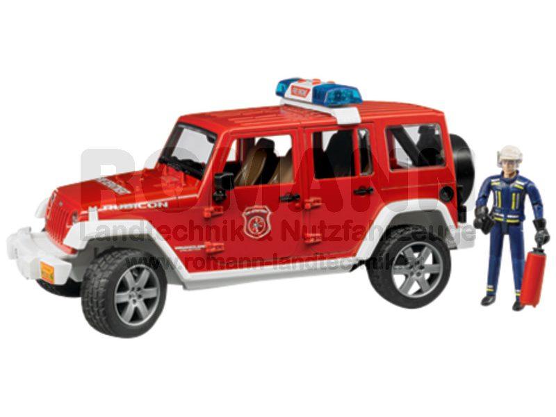 Jeep Wrangler Feuerwehr-Einsatzfahrzeug mit Figur