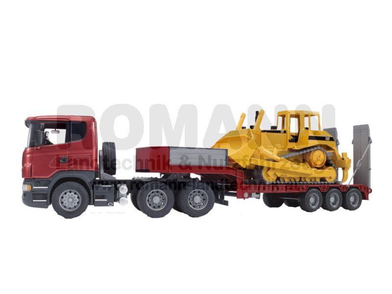 Scania R-Serie mit Tieflader und Caterpillar Bulldozer