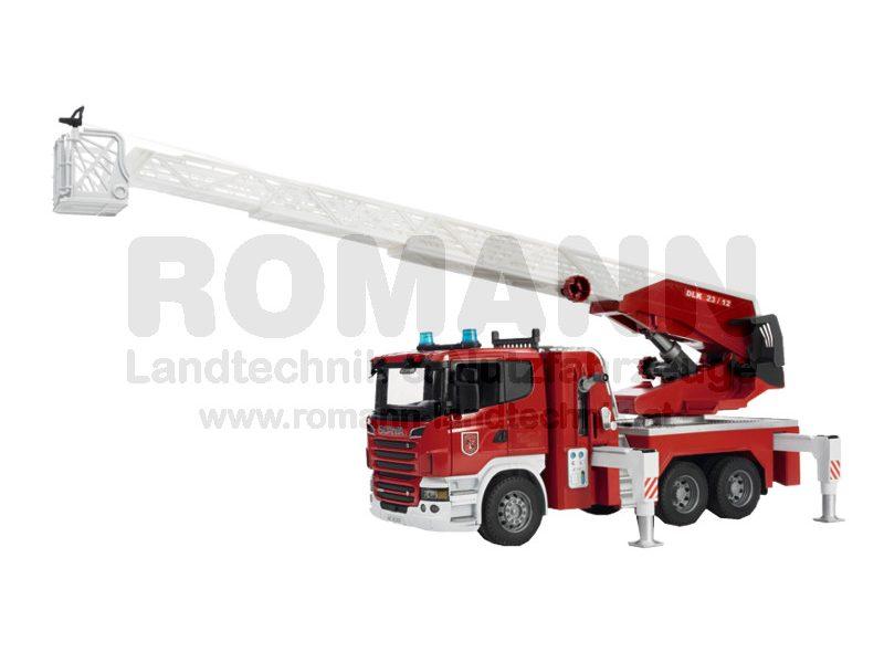 Scania R-Serie Feuerwehrleiter mit Wasserpumpe und L&S Module