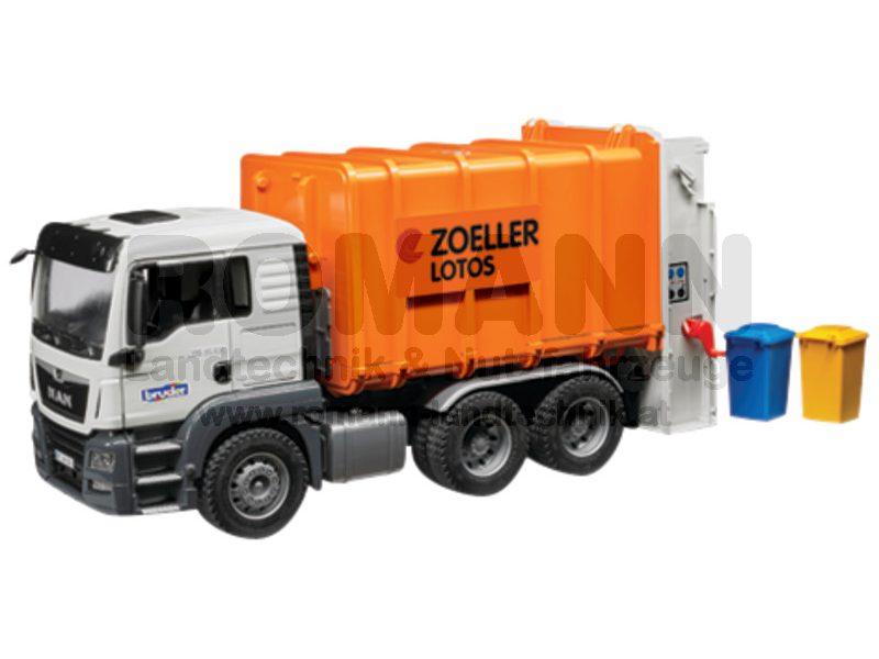 MAN TGS Müll-LKW Hecklader (orange)