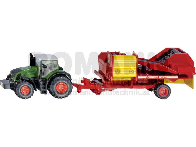 Fendt Traktor mit Kartoffelroder