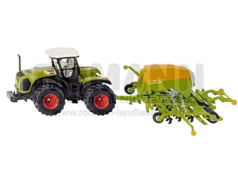 Claas Traktor mit Sämaschine