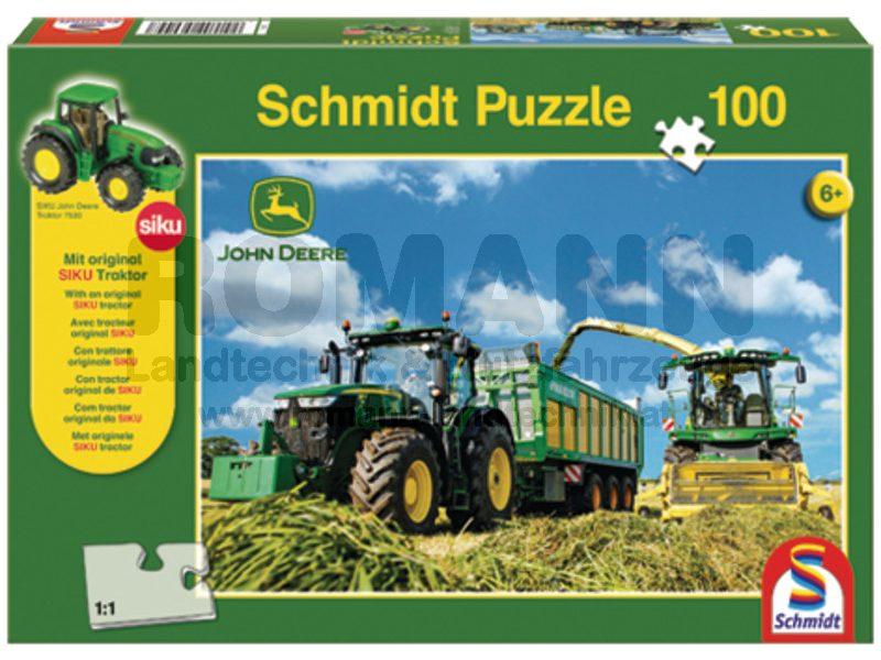 John Deere Puzzle mit SIKU Traktor