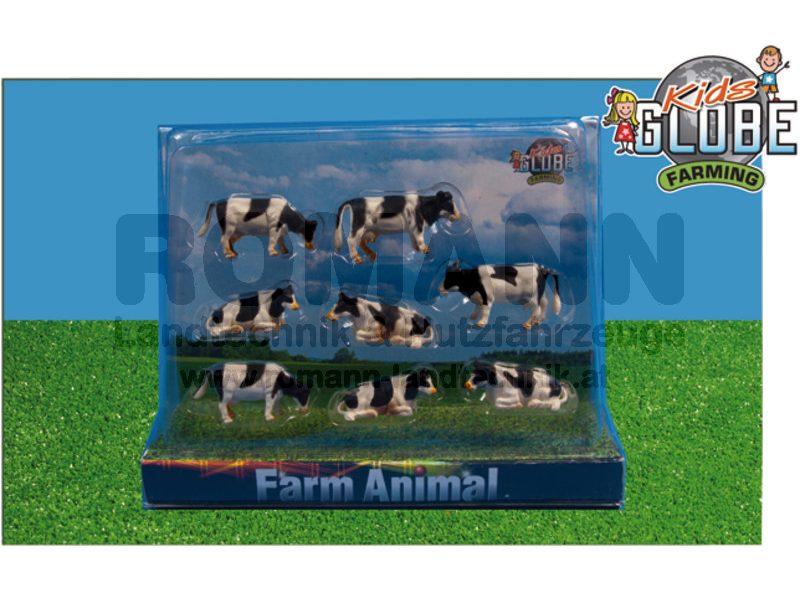 8 Kühe liegend und stehend