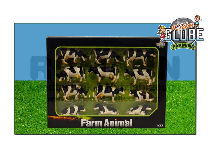 12 Kühe liegend und stehend